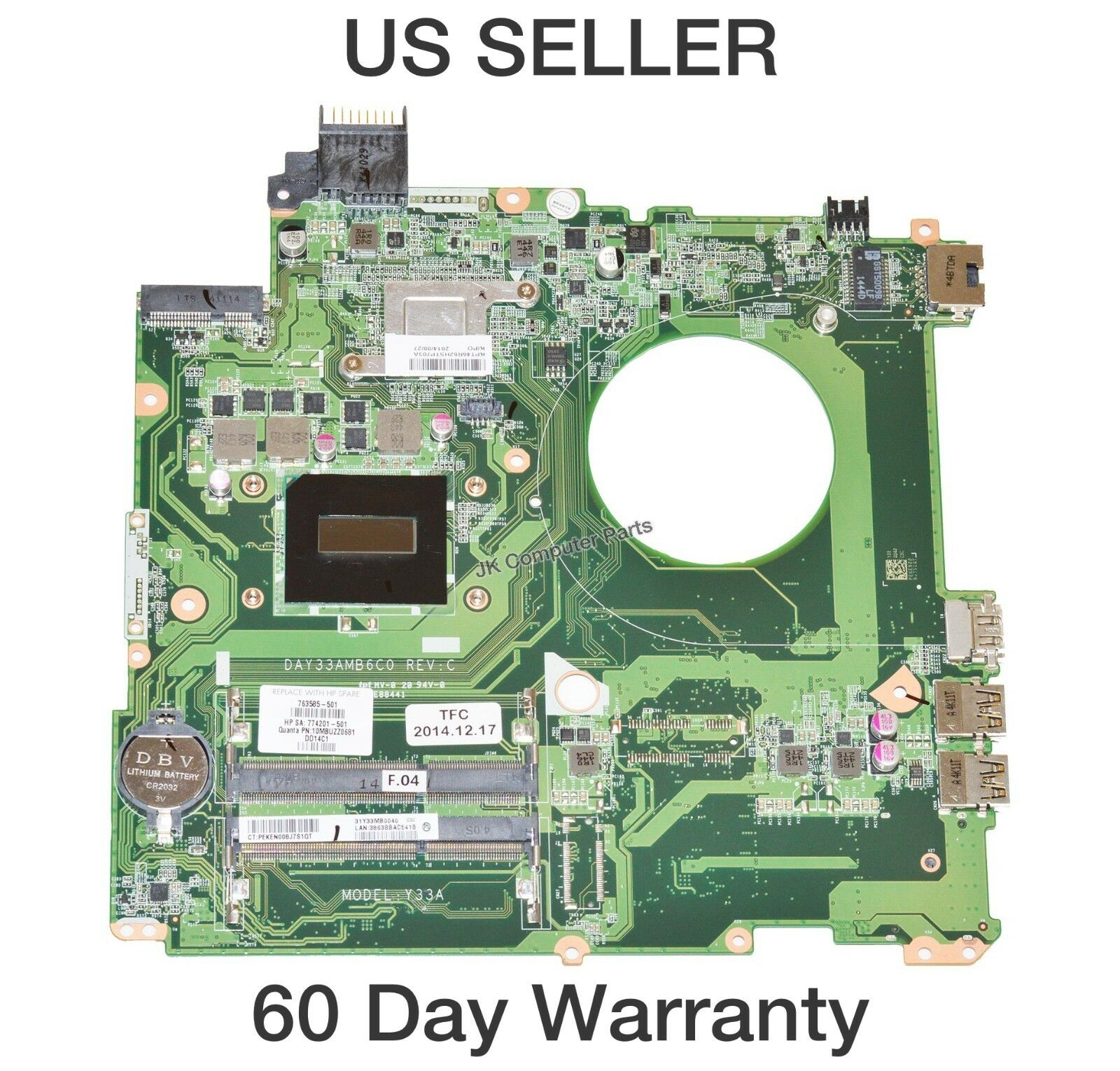For HP DV7-1000 laptop motherboard 506123-001 LA-4093P AMD CPU 100/% tested