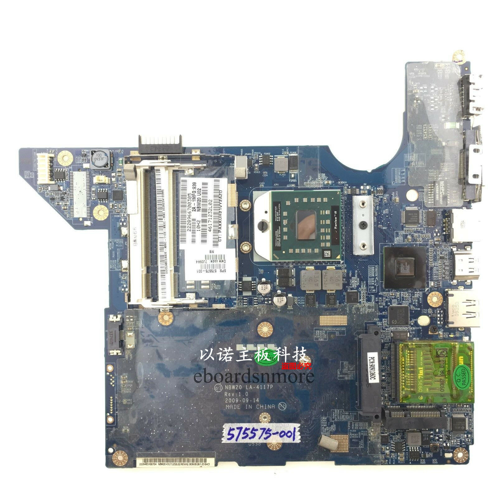 Free Shipping Laptop Motherboard For HP 435 635 P//N 646982-001 Fully Tested