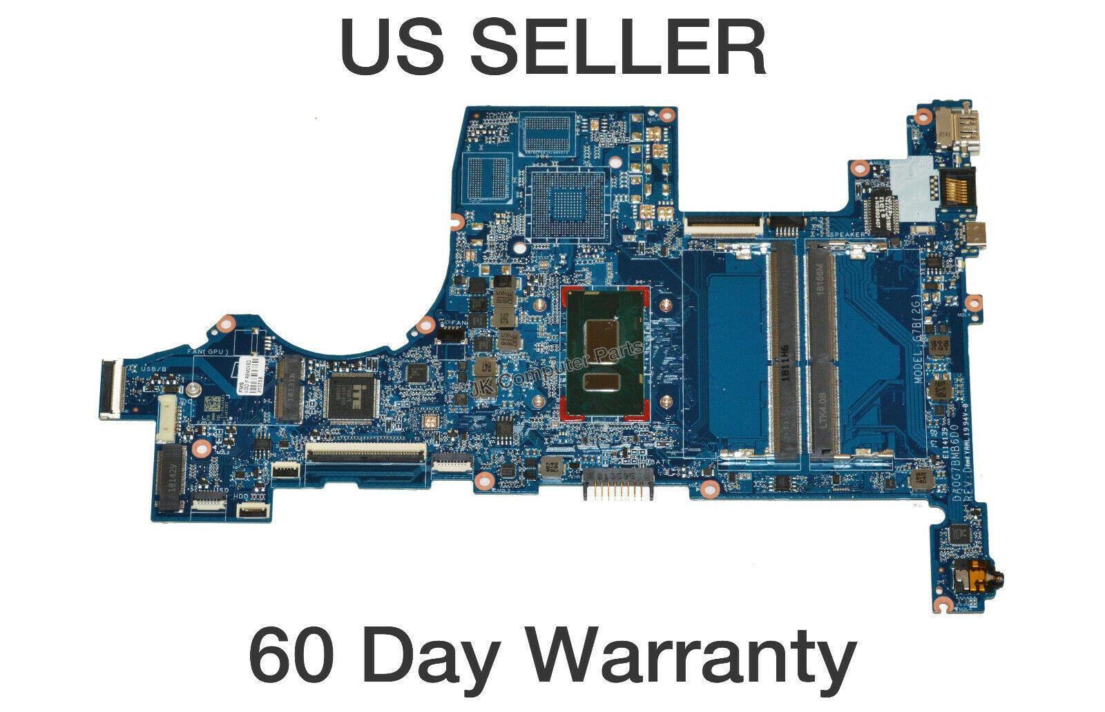 HP 15-CS Laptop Motherboard w/ Intel i7-8550U 1.8GHz CPU L22822 ...